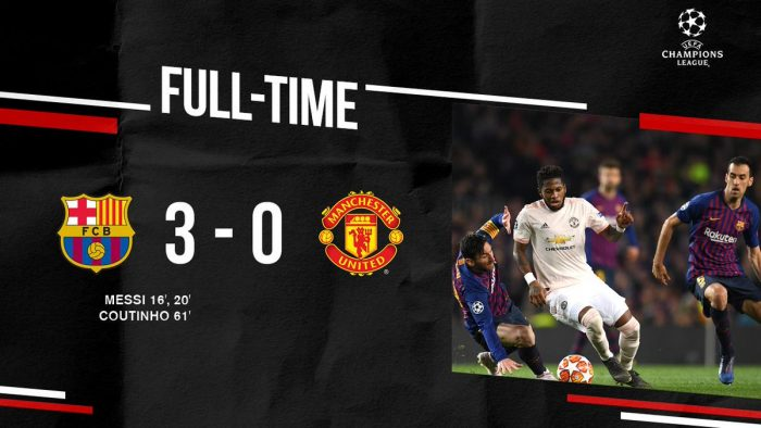Barcelona vs Manchester United 3-0 (Agg 4-0) - Highlights (Download Video)
